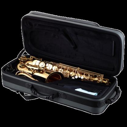 Altsaxofon i kasse
