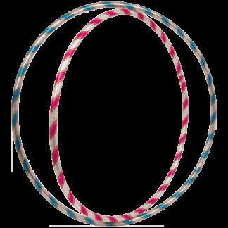 2 hulahopringe i pink og blå