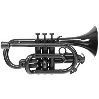 En sort begynder trompet i plast