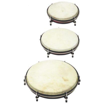 sæt med tre trommer til børn og rytmik