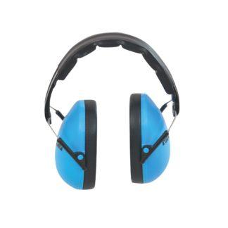 Blå og sorte høreværn i børnestørrelse