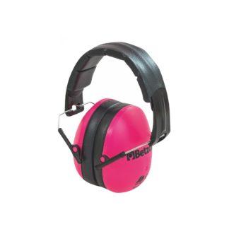 Pink og sorte høreværn i børnestørrelse
