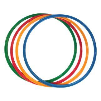 Fire hulahopringe i farver