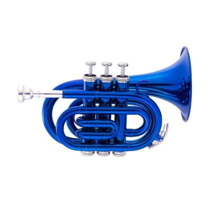 Pocket trompet i blå finish