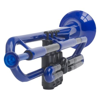 Trompet i plastik i blå