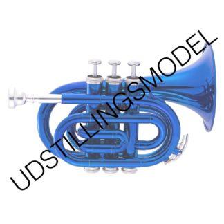 Pocket trompet i blå udstillingsmodel