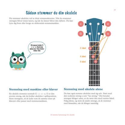 stemmevejledning af ukulele