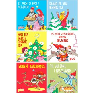 6 pixibøger med julesange