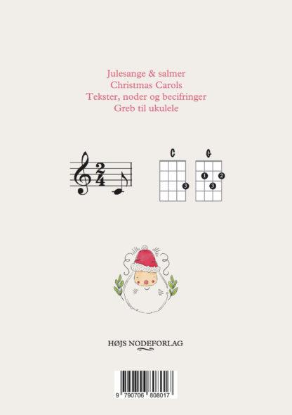 bagsiden af jule-ukulelebogen