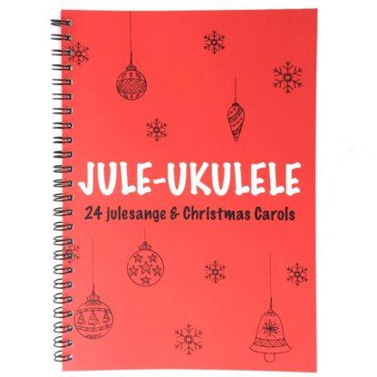 sangbog med 24 julesange og noder til ukulele