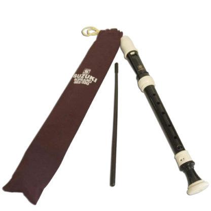 Blokfløjte med pose og fløjterense