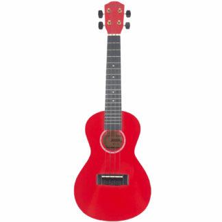 Rød ukulele i concert størrelse