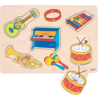 Puslespil med musikinstrumenter