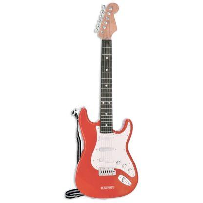 Rød legetøjs-elguitar