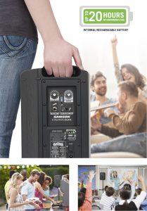 bærbar mikrofonforstærker