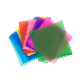 chiffontørklæder juggling scarfs i mange farver
