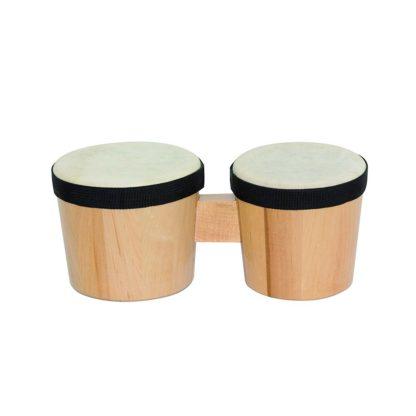 Små bongotrommer i træ og skind