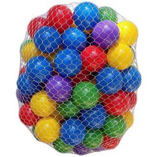 100 plastikbolde i farvemix til boldbassin