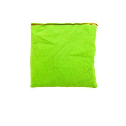 Kvadratisk ærtepose i grøn