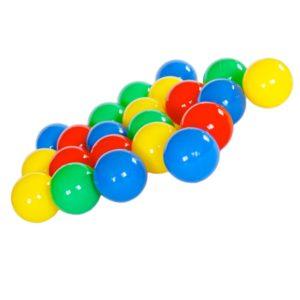 Farvede legebolde i plast