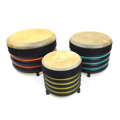 3 trommer i 3 størrelser