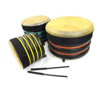 3 Trommus trommer med køller