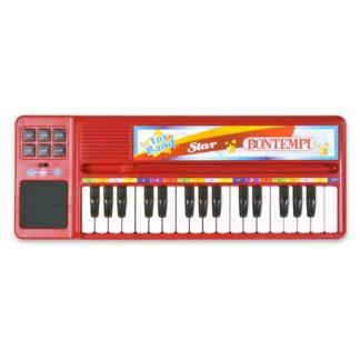 Rødt legetøjskeyboard