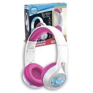 Trådløse hovedtelefoner i pink og hvid til børn