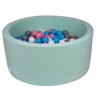 Boldbad i skum med minrfatvet betræk inkl 200 bolde