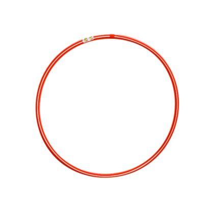 Hulahopring hvid/rød 80 cm i diameter