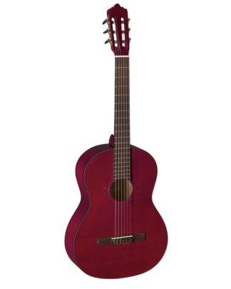 rød klassisk guitar