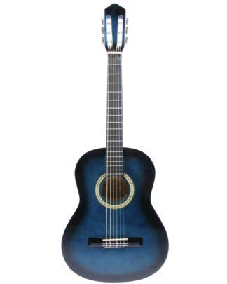 Billig akusitsk guitar i blå