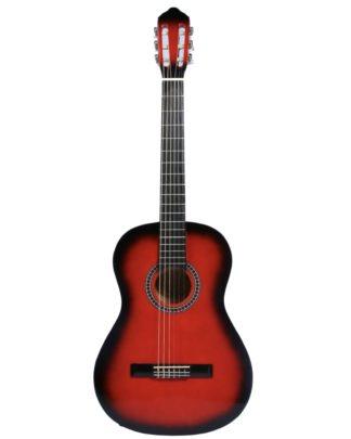 Billig guitar akustisk rød