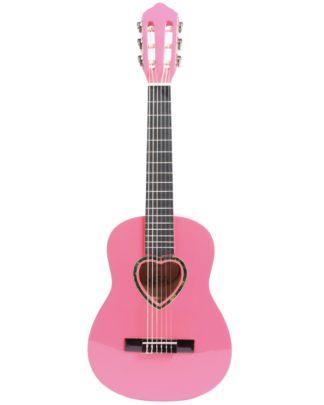 Spanskguitar i pink med hjerte