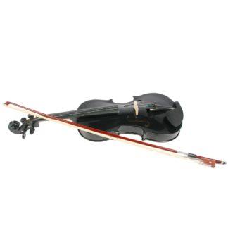 Violin 4/4 størrelse i sort til voksne og børn fra 12 år