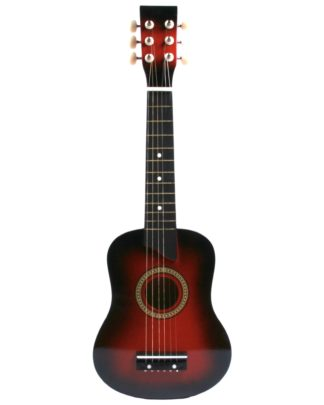 rød mini guitar