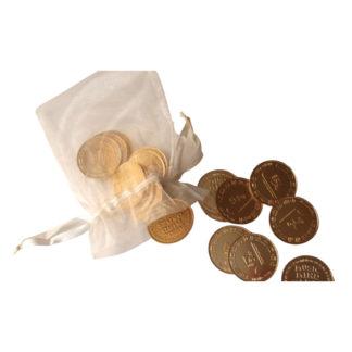 Legeguldmønter i pose til Music Mind Games