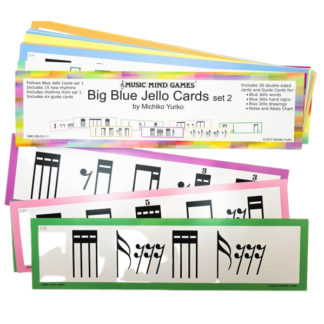 Store blue jello cards set 2 fra music mind games