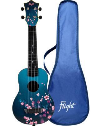 ukulele med blomster