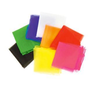 Chiffontørklæder 65x65 enkeltfarver
