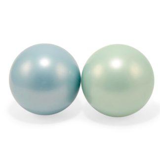 Magni bolde, 2 stk, i grøn og blå, 15 cm.001